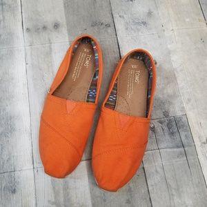 Toms Women's Orange Slip-on Shoes